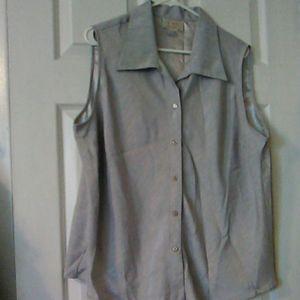 Plus size grey sleeveless top